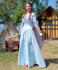 Ice Blue Medieval Gown by EveningArwen on Etsy - StyleSays