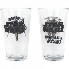 Deux verres Vaisseaux Spaciaux Star Wars, pour boire l'apéro à la vitesse de la lumière ! Cadeau Star Wars, Star Wars Merchandise, Jewelry Tattoo, X Wing, Dimensions, Glass, Tattoos, Unique, Fashion