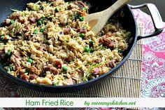 Mommy's Kitchen: Ham Fried Rice {Leftover Ham Recipe}