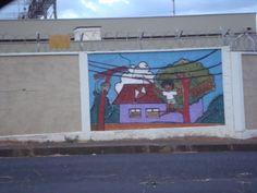 Grafite educativo de Elton Prates localizado na rua Antenor F. Carrijo, Uberlândia, MG