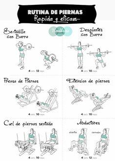 Rutina de piernas rapida y eficaz