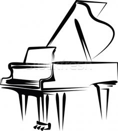 Music Notes Clip Art Free   Stock foto / Vektor-Illustration : illustration with a piano