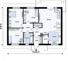 case pe un singur nivel sub 100 de mp Single floor houses under 100 square…