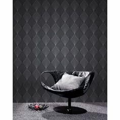 Rasch Geo Deco Wallpaper Black From Homebase Co Uk
