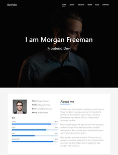 DevFolio is a free portfolio website html template created with the Bootstrap framework. Whether you are a creative individual, developer or artist DevFolio will serve you well. Create a unique online portfolio, resume or just personal website with this elegant and easy to use bootstrap template. No matter what your talent is, DevFolio is one […] The post Devfolio – Free Bootstrap Portfolio HTML Website Template For Portfolio, Resume or Personal Websites appeared first on Free Dune.