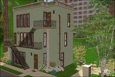 Antogo Apartments Woo I finally got this finished! I originally built it on a lot, but what do you know, I accidently deleted it. This one's on a lot, though.