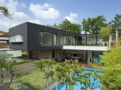 House in Singapore with contemporary aesthetic