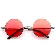 c5580f0dc4b2 Retro Hippie Metal Lennon Round Color Lens Sunglasses-These classic round  metal sunglasses are inspired by the legendary John Lennon and feature  color ...