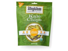 100 Cleanest Packaged Food Awards 2014: Vegetarian: Rhythm Superfoods Kale Chips http://www.prevention.com/food/healthy-eating-tips/100-cleanest-packaged-food-awards-2014-vegetarian?s=60