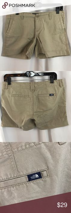 "NWT The North Face sz4 Long Maywood Shorts in dune NWT The North Face sz4 Long Maywood Shorts in dune beige...16.5"" across waist...4.5"" inseam... The North Face Shorts"