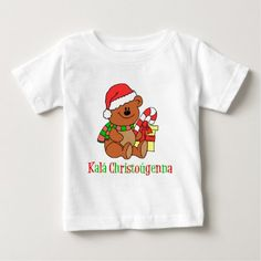 Greek Christmas Bear Baby T-Shirt - tap to personalize and get yours