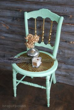 Mint Chair with Gold Wax - brepurposed