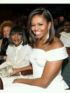1st Lady Michelle Obama. Love her style. Cecily Tyson is looking good too.
