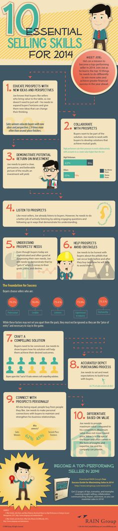 10 Essential Selling Skills For 2014 #Infographic #Marketing #Sales #Busines