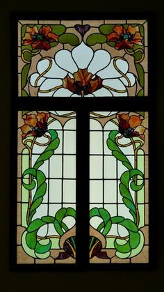 Red Victorian Stained Glass doors - Google Search