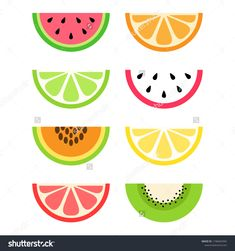 Find Set Citrus Exotic Tropical Fruit Slices stock images in HD and millions of other royalty-free stock photos, illustrations and vectors in the Shutterstock collection. Fruit Illustration, Graphic Design Illustration, Watermelon Drawing, Juice Logo, Felt Hair Accessories, Fruit Icons, Summer Diy, Summer Fruit, Second Birthday Ideas
