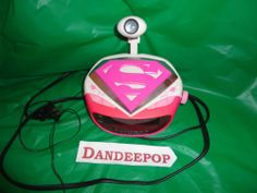 DC Comics Supergirl Radio Digital Alarm Clock with projection time Works find me at www.dandeepop.com