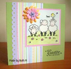 tsg poultry in motion-=Sheep Easter Wishes by FubsyRuth - Cards and Paper Crafts at Splitcoaststampers