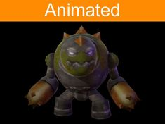 character golem 3d model low-poly animated max 3ds fbx tga 1