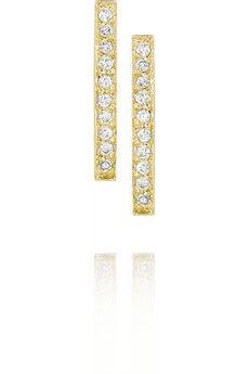 Jennifer Meyer 18-karat gold diamond bar earrings (=)