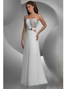 White Prom Dresses 2012 with Rinestones