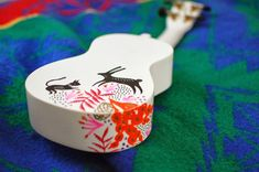 painted ukelele- DONE! Ukulele Instrument, Ukulele Art, Guitar Art, Music Instruments, Ukelele Painted, Cute Cowgirl Boots, Ukulele Design, Chia Pet, Music Items