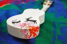 painted ukelele- DONE! Ukulele Instrument, Ukulele Art, Guitar Art, Music Instruments, Ukelele Painted, Cute Cowgirl Boots, Ukulele Design, Chia Pet, Music Items