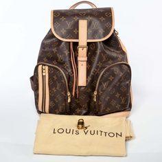 Bosphore Backpack in Monogram by Louis Vuitton. Mochila Louis Vuitton, Louis Vuitton Backpack, Louis Vuitton Shoes, Louis Vuitton Monogram, Backpack Purse, Leather Backpack, Christian Louis Vuitton, Luxury Bags, Handbags Michael Kors