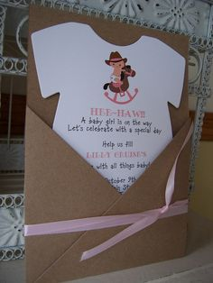 Cowgirl Baby Shower InvitationCustom Die by BeautifullyInviting
