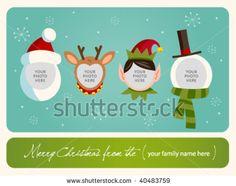 Family spirit Christmas card.