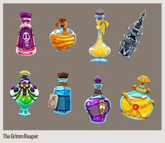 The Grimm Reaper -  iOS game by Danielle Brown, via Behance