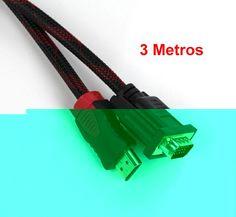 Cable Adaptador VGA Macho A HDMI Macho Mallado de 3 Metros modelo 10328 - Cable HDMI macho a VGA Macho de 3 metros Características 1.-Cable HDMI Macho a VGA 15 Pines Macho 2.-Conectores protegidos para mejor transferencia 3.-Transmite video hasta resolución HD 4.-Revestido por una malla para otorgarle mayor durabilidad. 5.-Longitud de 3 m... - http://www.vamav.es/producto/cable-adaptador-vga-macho-a-hdmi-macho-mallado-de-3-metros-modelo-10328/