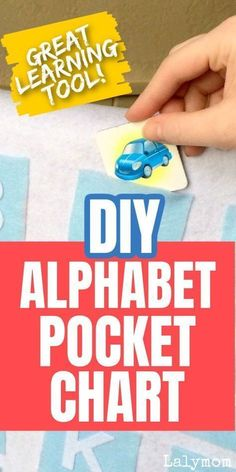 This DIY Alphabet Pocket Chart from LalyMom is perfect for learning letters and letter sounds. This guide comes complete with instructions for creating this adorable pocket chart. You can also find ideas for using this pocket chart or get creative and come up with your own fun activities. The possibilities are endless for this inexpensive easy DIY learning activity. A great way to help toddlers, preschoolers, and kindergarteners to learn their ABCs. Toddler Learning Activities, Play Based Learning, Learning The Alphabet, Alphabet Activities, Craft Activities For Kids, Hands On Activities, Learning Resources, Kids Learning, Literacy Activities
