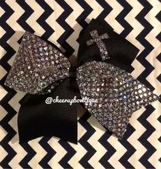 Looking for a bow design with a cross or wings for Christian all star squad. Love this just wish cross was bigger.