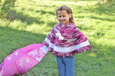 Poncho  with hood for girl 36 years by iziknittings on Etsy, $60.00