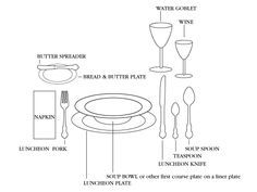 Lunch table setting