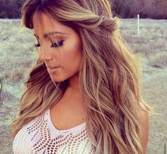 Caramel blonde- think I might do my hair this color next...?