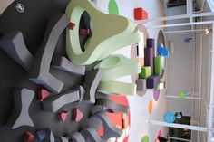 Giant foam shapes. Could be kit for Arena - custom shapes that represent parts of body? Giant climb on puzzle