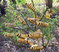 pop bottle bees