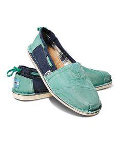 f9c82905703 TOMS Green Blue Women s Bimini Stitchouts (US - Click pics for price
