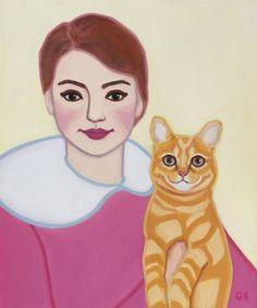 Ladybug Rocks, Original Paintings, Original Art, Orange Tabby Cats, Domestic Cat, Figurative Art, Buy Art, Saatchi Art, Canvas Art