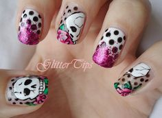 Skull nails (wasn't going to Pin any nails today but these are Awesome-sauce!)