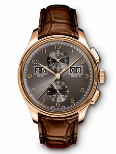 """SIHH 2015: IWC Portuguese Perpetual Calendar Digital Date-Month.  The Portuguese (or Portugieser) watch family now includes a model featuring large double-digit displays for the date and month: the IWC Portugieser Perpetual Calendar Digital Date-Month Edition """"75th Anniversary"""" (Ref. 3972). Limited to 25 pieces in platinum (ref. IW397201) and 75 pieces each in 18-carat red gold with either a black (ref. IW397202) or silver-plated (ref. IW397203) dial. Retail prices of Euro 45,000 for the red…"""
