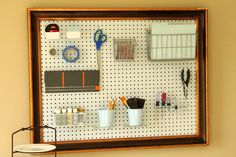 framed pegboard... this weekend's project!
