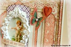 Great details on Romy's Sweet Sentiments card #Graphic45