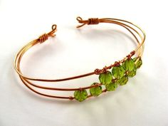 Handcrafted wireBracelets | Found on healyourselfintenminutes.com