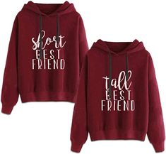 Best Friends Hoodies for 2 Girls BFF Jumper Matching Sweaters for Bestfriends -- You can get more details by clicking on the image. (This is an affiliate link) Best Friend Matching Shirts, Matching Hoodies, Best Friend T Shirts, Bff Shirts, Best Friend Outfits, Matching Sweaters, Best Friend Clothes, Friends Shirts, Best Friend Sweatshirts