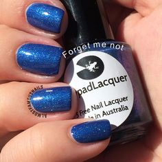 Lilypad Lacquer Forget me Not from the Fabulous Floral collection, March 2015. Bought from LPL Australia's restock in March 2015. Pinned from Almost Famous Nails' blog