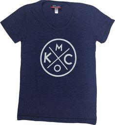 BunkerMade KCMO S/S Women's T-Shirt<br>Tri-Navy