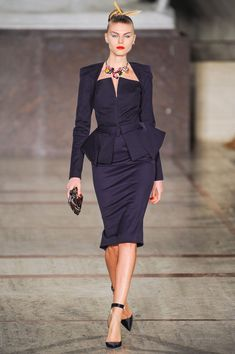 Zac Posen f/w 2012. I would wear literally anything this man makes.